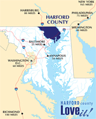Harford County Maryland Golf Map